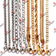 Collar de encargo de la cadena del latón / inoxidable / del hierro para los accesorios de los colgantes (NC132)