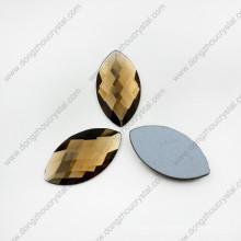 Perles de verre décoratives colorées facettées de yeux de cheval pour des chaussures