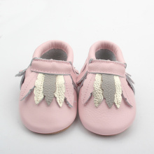 Bekväma Rubble Sole Skor Baby Moccasins Girl