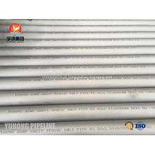 Tubulação sem emenda de aço inoxidável de ASME SB677 TP904L