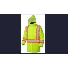 100% Polyester Yellow Reflective Jacket with Hood