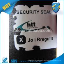 Perfect Brand protection Shenzhen ZOLO anti-fake custom logo blank destructible vinyl labels