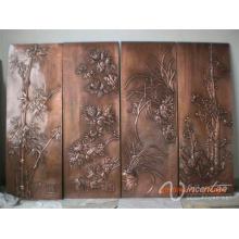 Alibaba wholsale intérieur maison décoratif relief bronze métal mur art statue
