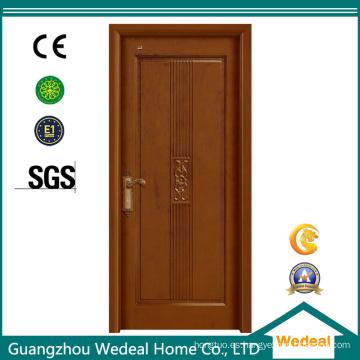 Puertas interiores de MDF Oak Wooden Veneer para proyectos