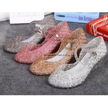 Lady dernières sandales de gelée de cristal de haute qualité (ff614-7)