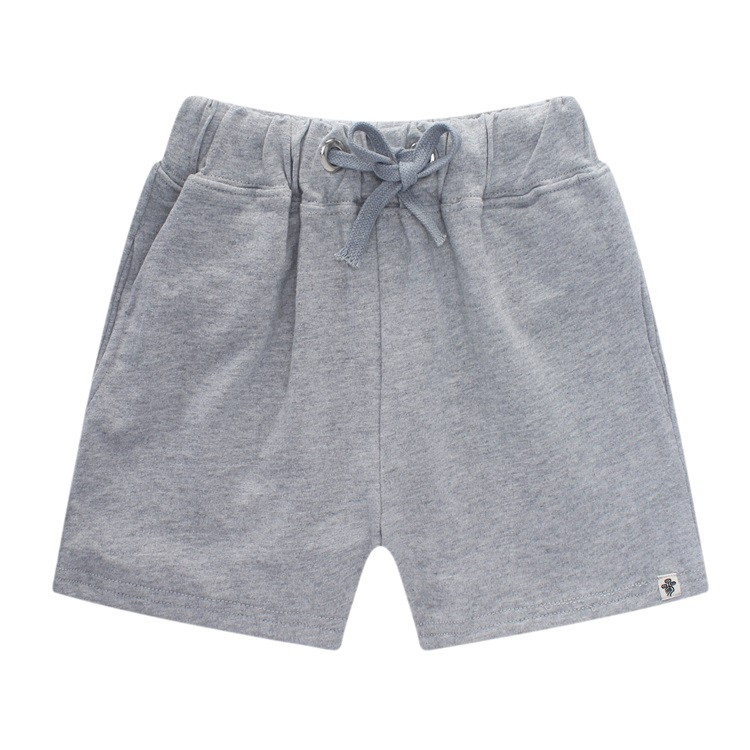 Grey Cotton Shorts Womens