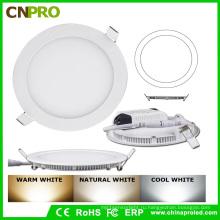24ВТ теплый белый цвет округлая тонкий ac85-Сид 265v светодиодные панели