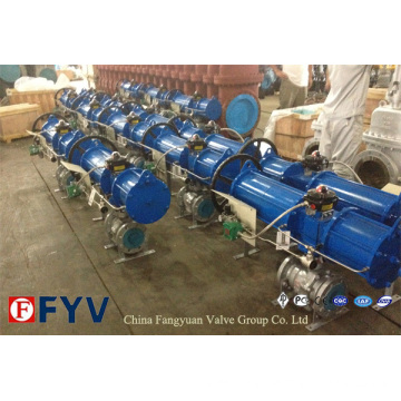 API 6D Pneumatic Full Bore Floating Ball Valve