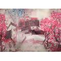 Impression Fancy Crepe Georgette Stretch Fabric