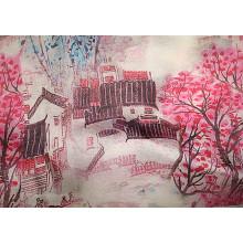 Impressão de seda Crepe De Chine Fabric