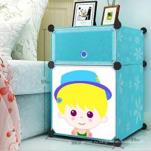 Пластиковые простые шкафы для хранения DIY для детей (ZH0021)