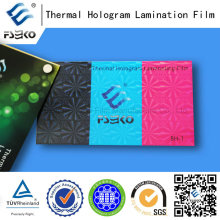 3D Transparent Thermal Laminating Film with Various Patterns