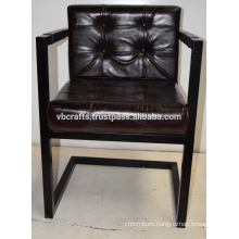 Industrial Leather Seat Chair