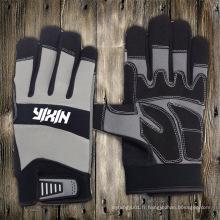 Gant en cuir synthétique-Gants-Gant de travail-Gant utilitaire-Gant-Gant mécanique-Gant de sécurité