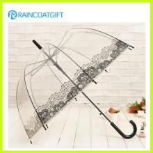 Gerader Werbungs-transparenter PVC-Regenschirm