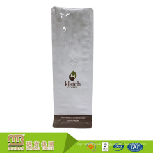 Laminated Material Heal Sealing Customized White Shiny Valve Coffee Packaging Bags Suppliers In Uae