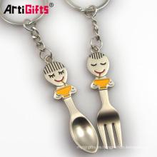 Llavero de plata de encargo al por mayor de la cuchara del recuerdo de alta calidad por encargo