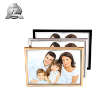 Custom Thin Diy Gold Black Silver Colored Brushed Large Metal Picture Photo Frames