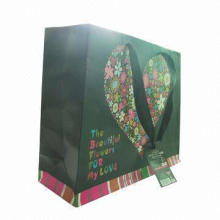 Paper bag printing, full-color, glitters, 250gsm art paper, with strings