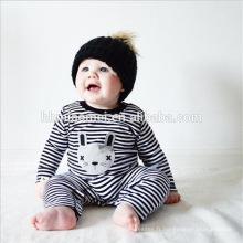 2016 Ins hot hot vente retour et blanc automne bébé barboteuse à manches longues unisexe dépouillé bébé barboteuse