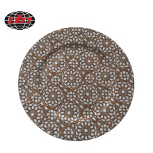 Plastic Charger Plate with Pringing Wood Veneer