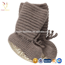 Booties Gold Keks flach Baby gestrickte Cashmere Infant Booties / Schuhe
