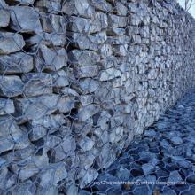 Gray PVC Coated Construction Gabion Retaining Wall