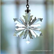 Pendentifs d'éclairage en cristal clair à la main Pendentifs en cristal de flocon de neige