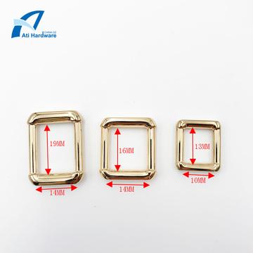 Hebilla de bolsa cuadrada Accesorios de bolsa de metal Hebilla decorativa