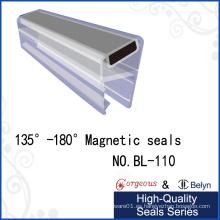 Tiras de protección magnética de goma que usan para la puerta de cristal