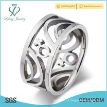 Anéis de casamento lésbicas do aço inoxidável, jóia lésbica do orgulho da prata