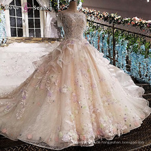 LS00166 O-neck cap sleeve appliques bead elegant peplum long train fat ladies custom wedding dress