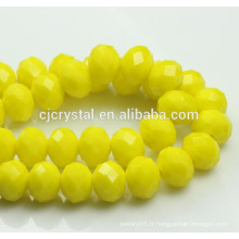 Perles de cristal, perles de rondelle, vases en cristal de décoration, perles en cristal de Chine, perles de cristal chinoises