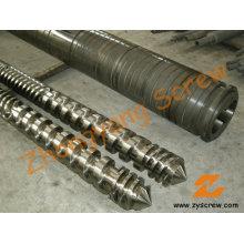 Parallel-Twin Schraube Barrel Doppelschnecke Barrel für PVC-Granulierung