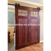 Puerta de granero de madera del interior de la partición de cristal del diseño de la división del interior