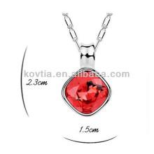 Charmant rubis en gros pendentif en pierre bijoux collier de mariage