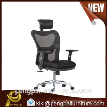 High back ajustable mesh manager chair with five wheels