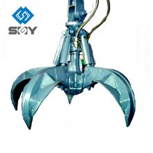 Grappin de ferraille hydraulique, grappin de ferraille en acier, grue de grappin hydraulique
