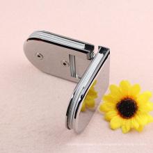 Prateleira de porta de chuveiro de vidro de alta qualidade vendedora de alta qualidade de 90 graus