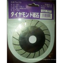 "4"" Diamond coated flat grinding cutting wheel disc"