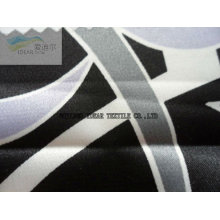 Polyester Printed Stretched Satin Fabric for Fashion Dress