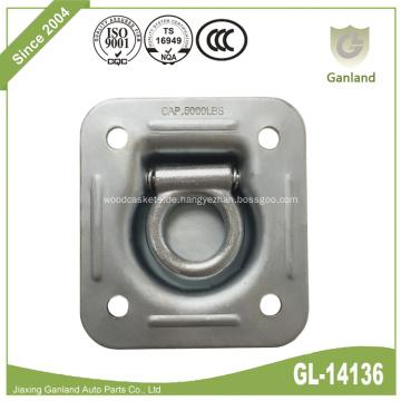 Quadratisches Einbau-Pan-Fitting aus Stahl mit D-Ring