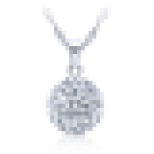 Colar de pingente de pérola de prata esterlina 925 para mulheres com corrente