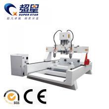 Máquina de enrutador CNC de madera de 4 ejes con cabezal múltiple