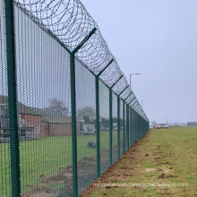 Powder Coated 358 Mesh Airport Perimeter Security Fence.