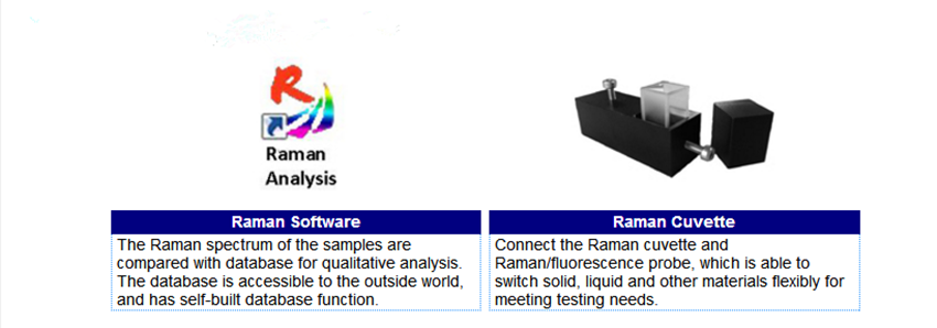 componets adn accessories of laser raman system