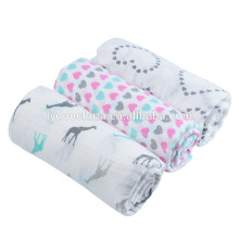 100% cotton baby blanket wave baby muslin swaddle wraps