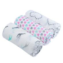 100% хлопок детское одеяло волна ребенок Муслин пеленать обертывания