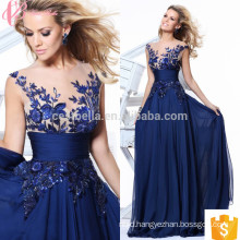 Vibrant Diaphanous Lace Ball Gown Arabic Western Party Evening Dresses