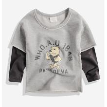 T-shirt longo da luva do urso dos desenhos animados na venda quente